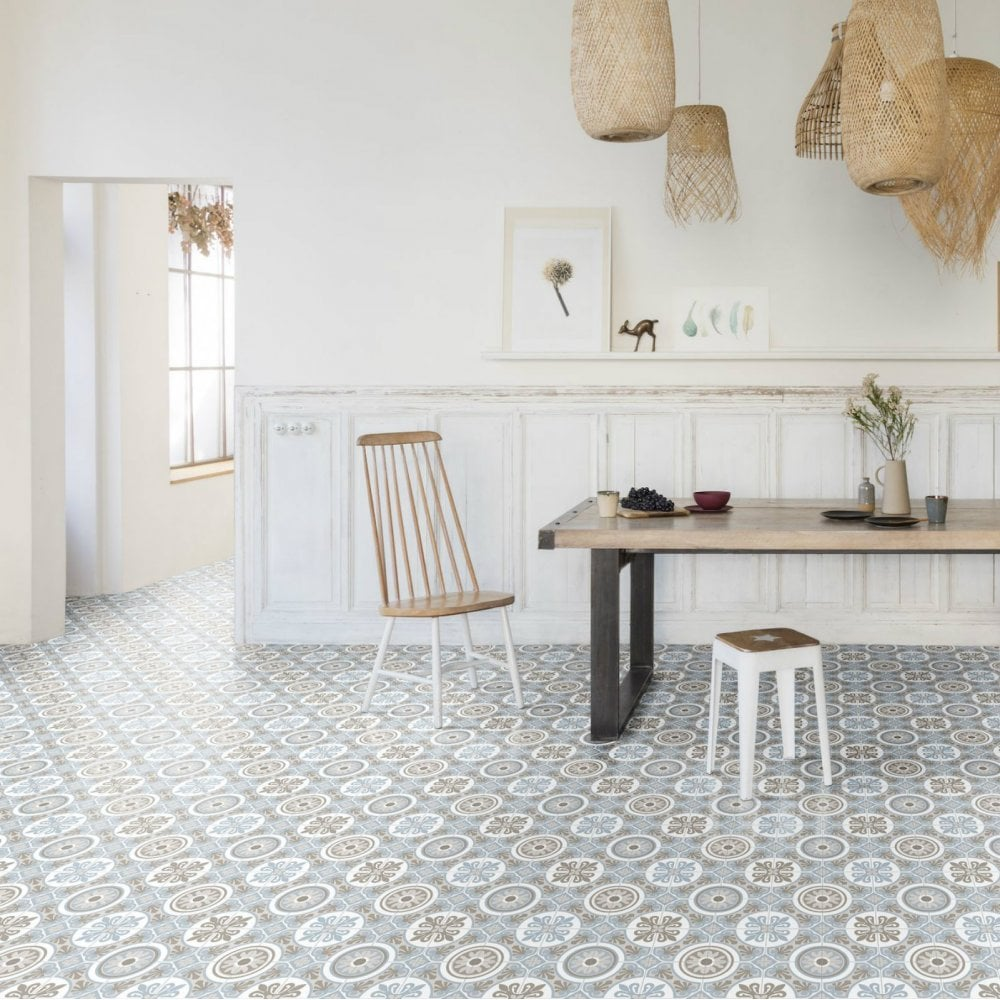 How to Create Character With Patterned Vinyl Flooring Tiles